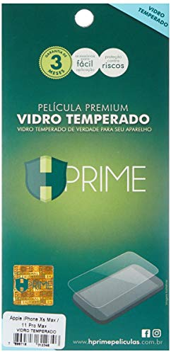 Pelicula de Vidro temperado 9h HPrime para Apple iPhone Xs Max/iPhone 11 Pró Max, Hprime, Película Protetora de Tela para Celular, Transparente