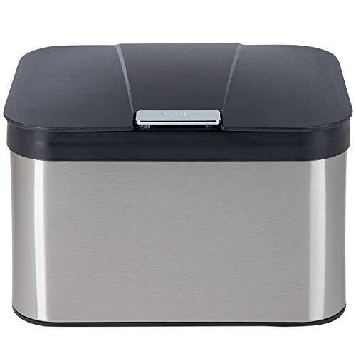 ONVAYA® Biomülleimer für die Küche | Komposteimer mit Deckel | Abfallbehälter aus Edelstahl für Biomüll | Bio Abfalleimer | geruchsfrei & luftdicht | 4,3 Liter (Edelstahl Silber)