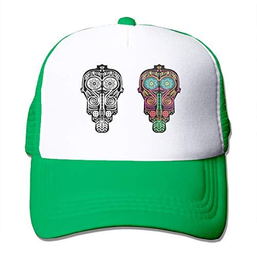 Qifejko Baseballkappe, afrikanischer Totenkopf, Indigenismus, PNG-Mesh gelb, klassisch, verstellbar, einfarbig