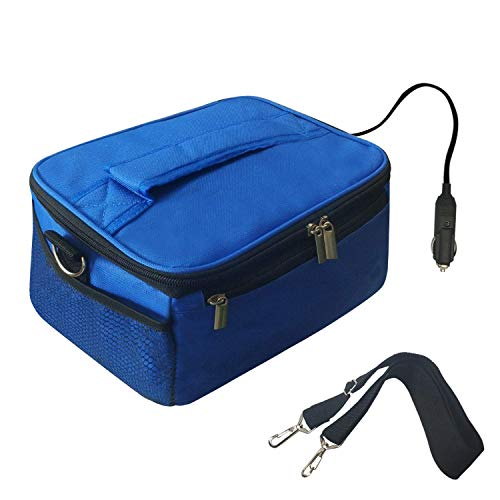 Portable Oven Personal Food Warmer for Prepared Meals Lunch Warmer Reheating at work For Office Working, Truckers,Outdoors Travel, Camping 110V (blue)