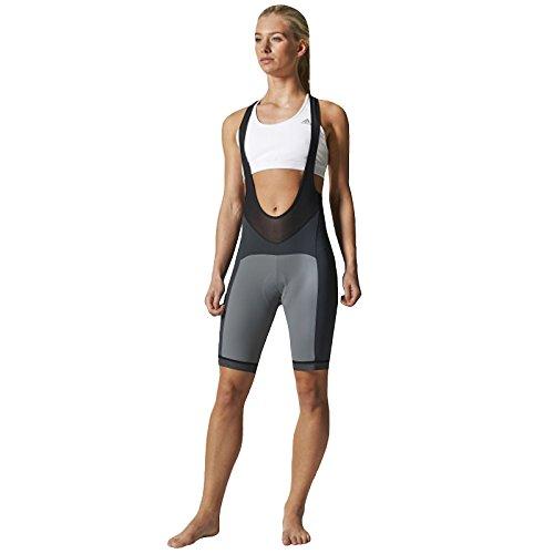 adidas Supernova Bibshort Women Radsporthose Trägerhose FORMOTION grau (S)