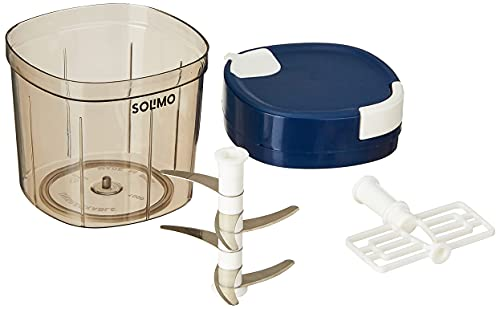 Amazon Brand - Solimo Large Vegetable Chopper with 6 Blades, 1000 ml