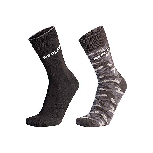 Replay, C100759-N209, Socken, Camouflage, Schwarz, Camouflage-Schwarz, 43/46