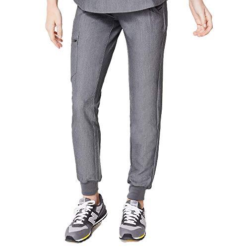 FIGS Zamora 2.0 Jogger Style Scrub Pants for Women - Slim Fit, Anti-Wrinkle Medical Scrub Pants, Graphite S
