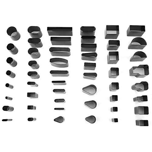 52 piezas Juego de herramientas de perforación de cuero Herramienta de fabricación artesanal de formas múltiples DIY Craft Puncher de cuero para Leathercraft Clay Polymer