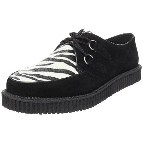Demonia CREEPER-600 - Zapatos de cordones para hombre Velourleder Zebra 39
