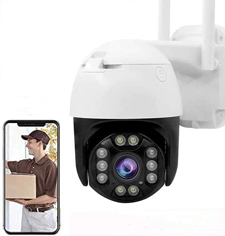 IP Camera PTZ Telecamera di Sorveglianza Videocamere WIFI Esterno 1080P Senza Fili 320°  100°, Visione Notturna, Audio a 2 Vie, Motion Detection, Messaggio Push