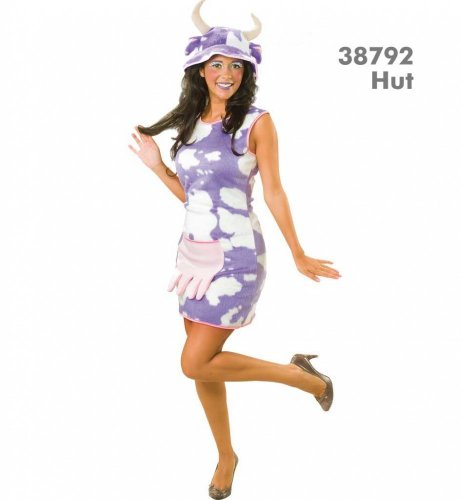 Kuh Leni Kleid Damen Kleid Kostüm Fasching Gr. 36 - 44