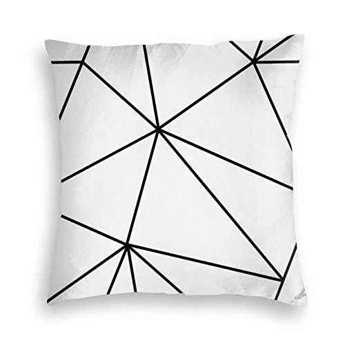 Zara Mono - Fundas de cojín de terciopelo blanco y negro con cierre invisible para sofá, dormitorio, coche, 45,7 x 45,7 cm