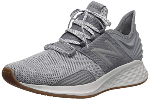 New Balance Men's Fresh Foam Roav V1 Sneaker, Gunmetal/Summer Fog, 12 M US