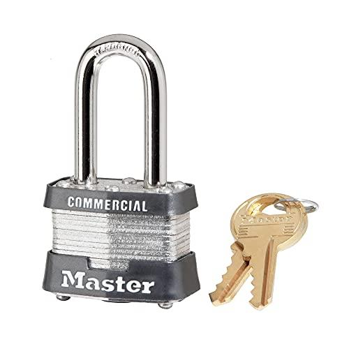 Master Lock 3KALF Outdoor Padlock with Key, 1 Pack