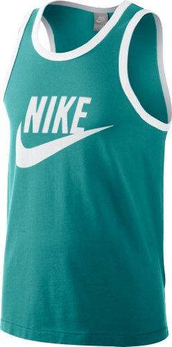 Nike Herren Ärmelloses Shirt Logo Tank, Sport Turq/White/White, S, 473443