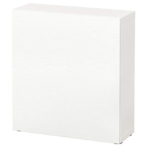 BESTÅ hyllenhet med dörr 60 x 20 x 64 cm Laxviken vit