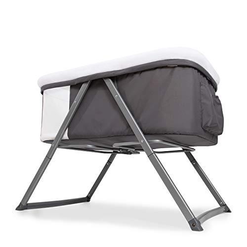 Hauck Dreamer Babywiege/Stubenwagen/Beistell-/Reisebett, inkl. Matratze und Spielzeugtasche, mit Schaukelfunktion, faltbar, klappbar und tragbar, Grau - 8