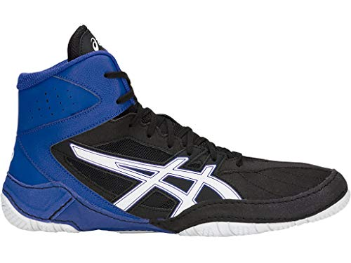 ASICS Men's Matcontrol Wrestling Shoes, 12M, Black/White