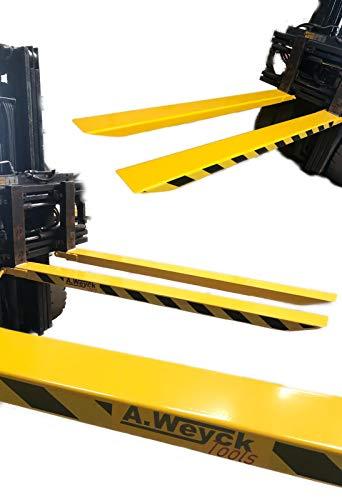 A. Weyck Tools Gabelverlängerung 220cm für Gabelstapler Zinkenverlängerung Frontlader 1 Paar
