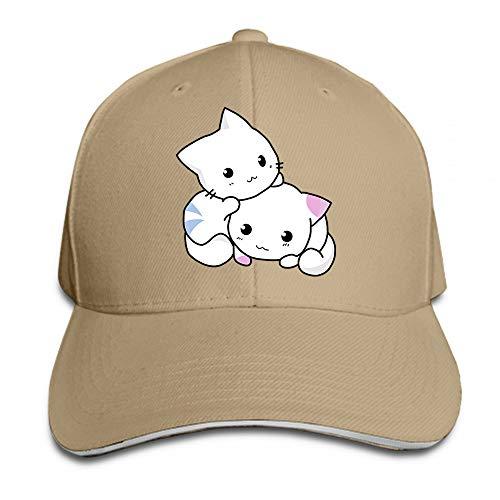 Blanco Pareja Gato Oso Personalizado Hombre y Mujer Popular Cool Gorra