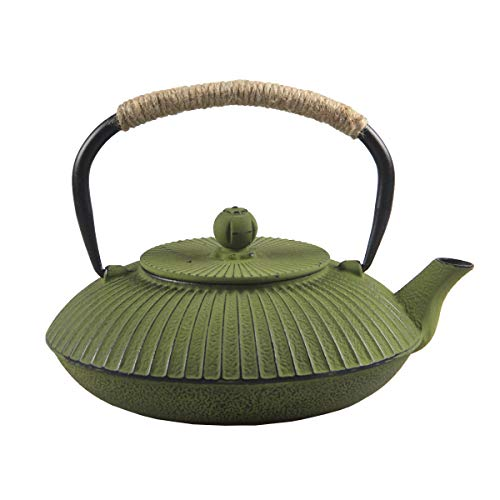 Cast Iron Teapot,SECHUDO Tea Kettle,Japanese Cast Iron Teapot with Stainless Steel Infuser for Stovetop Safe (26.4oz/CIT001)