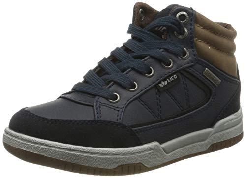 Lico Malte Hohe Sneaker Jungen, Marine/ Braun, 29 EU