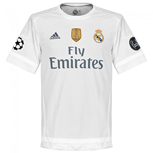 Adidas Real H Maillot Homme, Blanc/Gris, FR : S (Taille Fabricant : S)