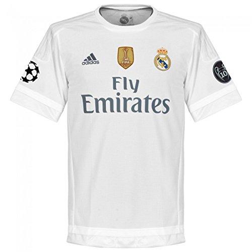Adidas H JSY UWC - Camiseta 1ª Equipación Real Madrid, Color Blanco / Gris, Talla S