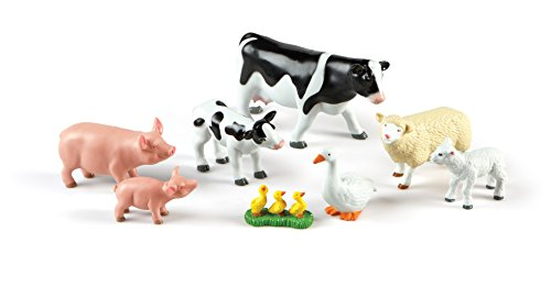 Learning Resources- Animales de la Granja Jumbo, mamás y Su