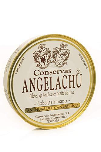 Anchoas del Cantábrico en Aceite de Oliva Angelachu 115 g