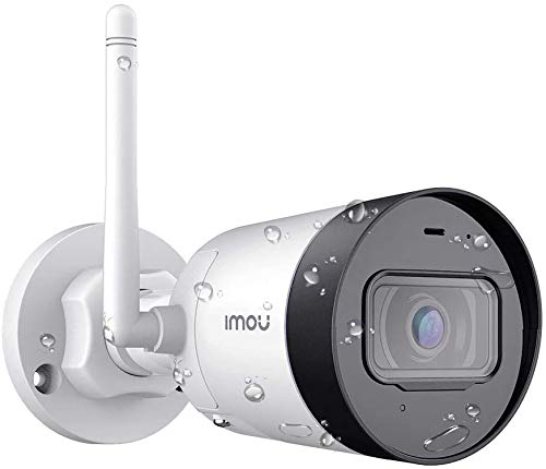 Aussen WLAN IP Kamera CCTV, 1080P Wetterfeste IP67 mit Mikrofon RTSP ONVIF, Bewegungserkennung, 30M. Nachtsicht, Bullet Lite 2MP