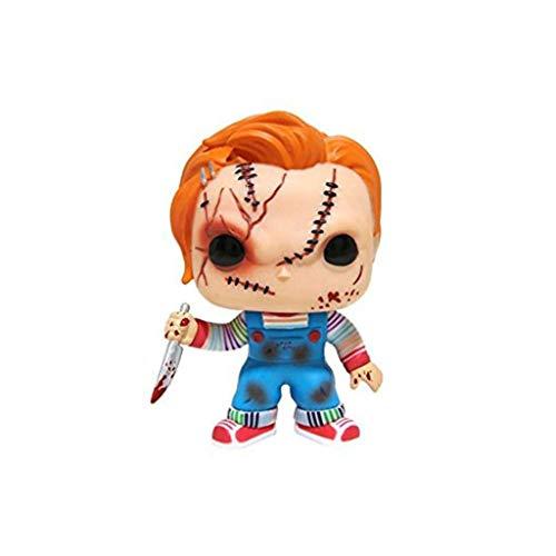 WRZHL El Juego de niño - Chucky con el Cuchillo Figura Sangre Películas de Carácter Figurita for los - Fan del Action Colección Caja del empaquetado 3.9Inch Products Around Action