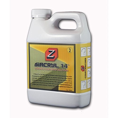 Z SiAcryl 14 Water-Based, Very Natural, Low-Luster Finish Concrete Sealer
