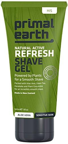 Crema de afeitar refrescante, Primal Earth Refresh Shave Gel, 140ml (4.7 oz)