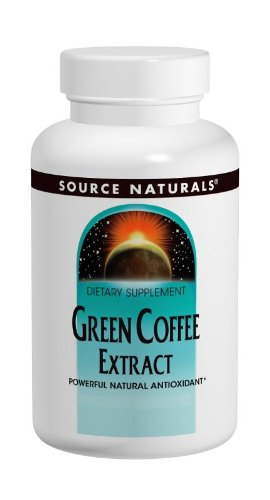 Source Naturals Green Coffee Extract 500mg 100% Pure Energizing Powerful Natural Antioxidant, Metabolism Booster for Weight Loss and Healthy Blood Sugar - 60 Tablets