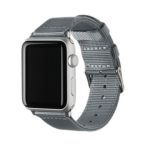 Archer Watch Straps | Repuesto de Correa de Reloj de Nailon para Apple Watch, Hombre y Mujer | Gris/Acero Inoxidable, 42/44mm