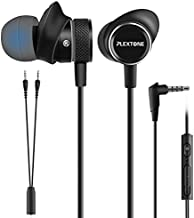 Innens Wired Earbuds in Ear Headphone with Mic and Volume Control for Gaming, 3.5MM Noise Cancelling Stereo Bass Gaming Earbuds for iPhone, Smartphone,Switch, PS4, Xbox One, iPad, PC(Black)