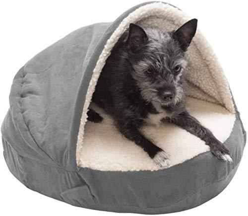 EREW Cama de donas de Mascotas, Ropa de Cama para Perros, Cama para Mascotas, Gato de Perro, Perrera cálida Redonda, sofá de Perro Suave, máquina de Fondo