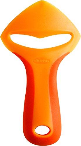 Chef'n Orangenschäler ZeelPeel, Zitrusfrüchteschäler aus Kunststoff, Schälmesser für Orangen (Farbe: Orange), Menge: 1 Stück