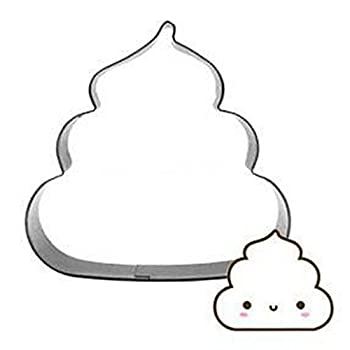 2.8-inch Poo Biscuit Cookie Cutter - Stainless Steel
