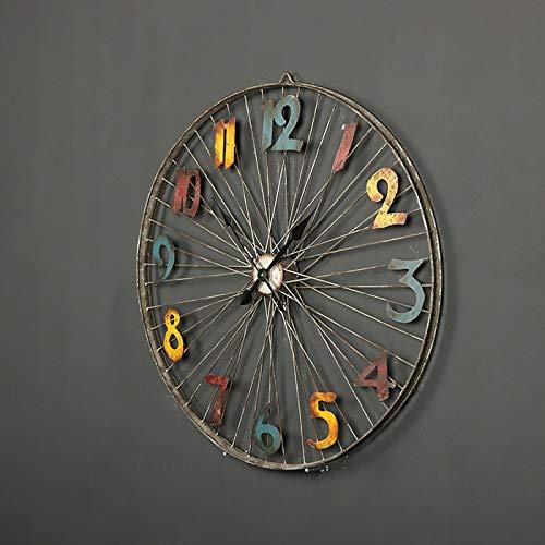 HH Muebles para el hogar Decoraciones de Pared Llantas de Bicicleta Decoraciones de Pared Relojes de Pared Digitales Sala de Estar Estudio Decoración Relojes y Relojes,2#