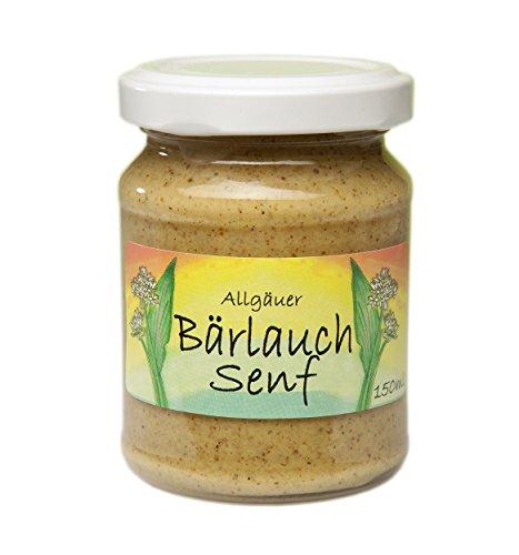 Bärlauch-Senf aus dem Allgäu   135g Gourmet Senf mittelscharf im Glas