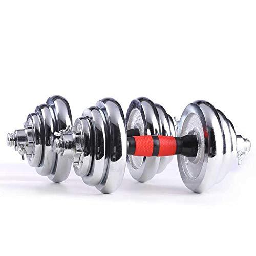 WENHAUS Juego de Mancuernas Ajustables de 10KG,15 kg, 20 kg y 25 kg, para Fitness, Entrenamiento en casa, para Hombres y Mujeres (25KG)