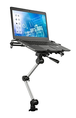 Mount-It! Laptop Vehicle Mount, No-Drill Computer Seat Mount, Full Motion Adjustable Design For Auto, Truck, Car, Van Use