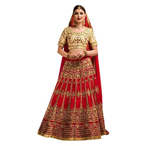Designer Bollywood Bridal Wedding Lehenga Choli Ghagra Skirt Top Rock Kleid mit Dupatta Frauen traditionelle Hochzeit indische Frau festlich Women Designer Braut 8373