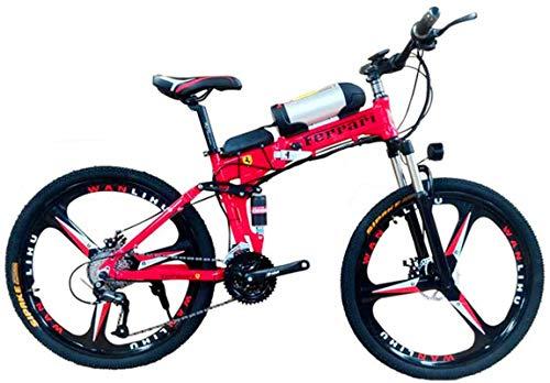 Bicicletas Eléctricas, 26' Electric Off-Road Bike, 350W sin escobillas del motor de aleación de aluminio adultos Montaña Electric Bike 21 Velocidad extraíble 36V 10AH batería Frenos de doble disco con