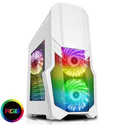 CiT G Force Gaming behuizing met 15 leds, blauw, voorkant ventilator Wht RGB