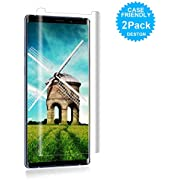 [2Pack] Eastoan Samsung Galaxy Note 9 Screen Protector [9H Hardness][Anti-Scratch][Anti-Bubble][3D Curved] [High Definition] Tempered Glass Screen Protector Compatible Samsung Galaxy Note 9