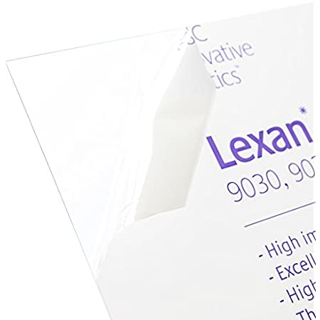 """10 SHEETS POLYESTER CLEAR PLASTIC LEXAN 4/"""" x 8/"""" x .006/"""" PAPER CRAFTS ART"""