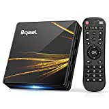Android TV Box 10.0【4GB RAM+64GB ROM】 Bqeel TV Box RK3318 Quad-Core 64bit Cortex-A53 con 2k*4K UHD H.265, 5GHz / 2.4GHz WiFi ,BT 4.0 ,USB 3.0 Smart TV Box