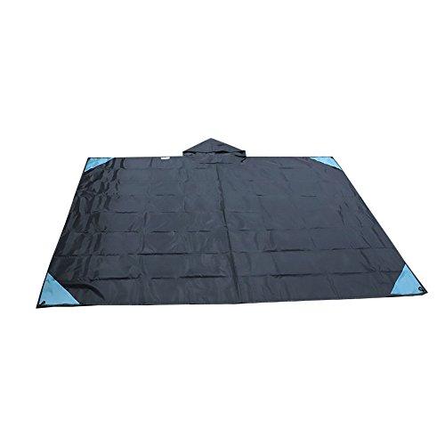 ITODA Couverture de Pique-Nique en Oxford Tapis Serviette de Plage Multifonctionnel Grande Taille Anti-Sable Imperméable Résistant à l'humidité Pliable Portable pour Voyage Camping Jardin Maison