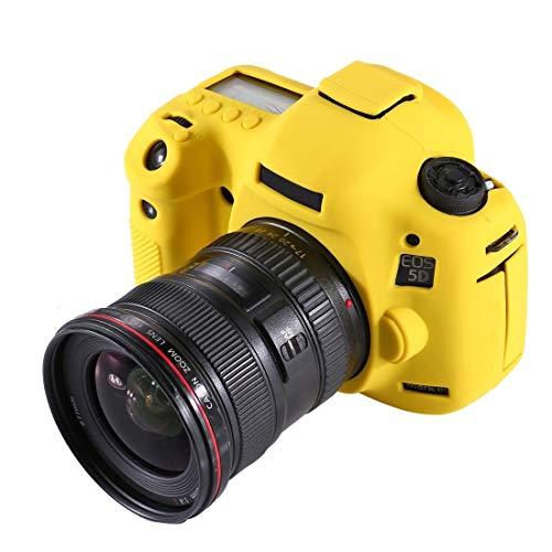 La Caja del Filtro de la cámara Suave de Silicona Protectora for Canon EOS 5D Mark III / 5D3 (Camuflaje) Movoo (Color : Yellow)