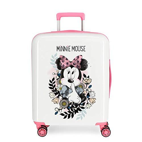 Disney Minnie Style Maleta de cabina Multicolor 37x55x20 cms Rígida ABS Cierre combinación 38.4L 2,9Kgs 4 Ruedas Dobles Equipaje de Mano